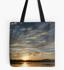Inch Island Winter Sunset Tote Bag