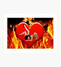 ❤‿❤ FLAMING HEART DESIRE ❤‿❤  Art Print