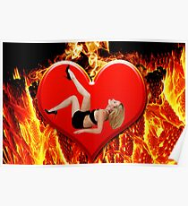 ❤‿❤ FLAMING HEART DESIRE ❤‿❤  Poster