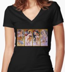 Four Seasons Fitted V-Neck T-Shirt