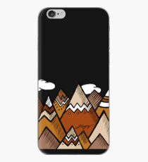 Dusty Mountain - Black iPhone Case