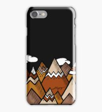 Dusty Mountain - Black iPhone Case/Skin