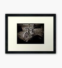 Snow Bike Framed Print
