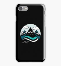 Adventure Mountain - Black iPhone Case/Skin