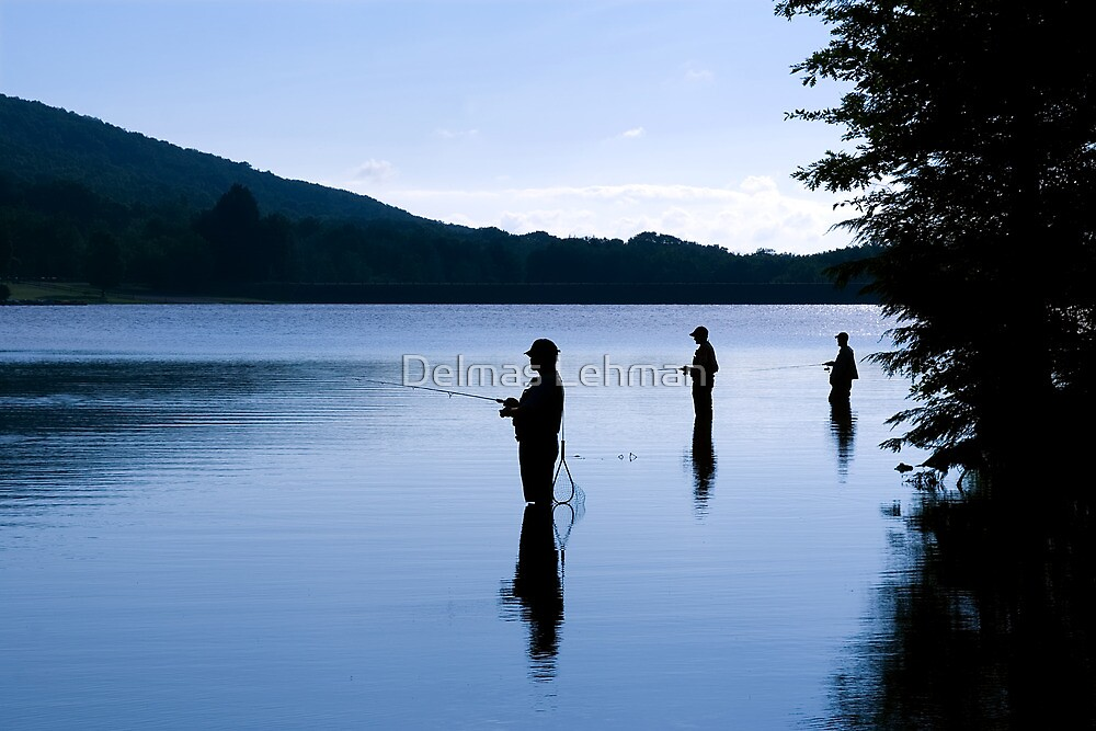Fishing at Daybreak by Delmas Lehman