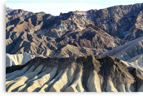 Zabriskie Point Death Valley,Death Valley National Park,California by Anthony & Nancy  Leake