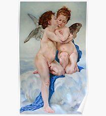 First Kiss after W. Bouguereau Poster