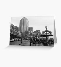 Pike Place (b&w) Greeting Card