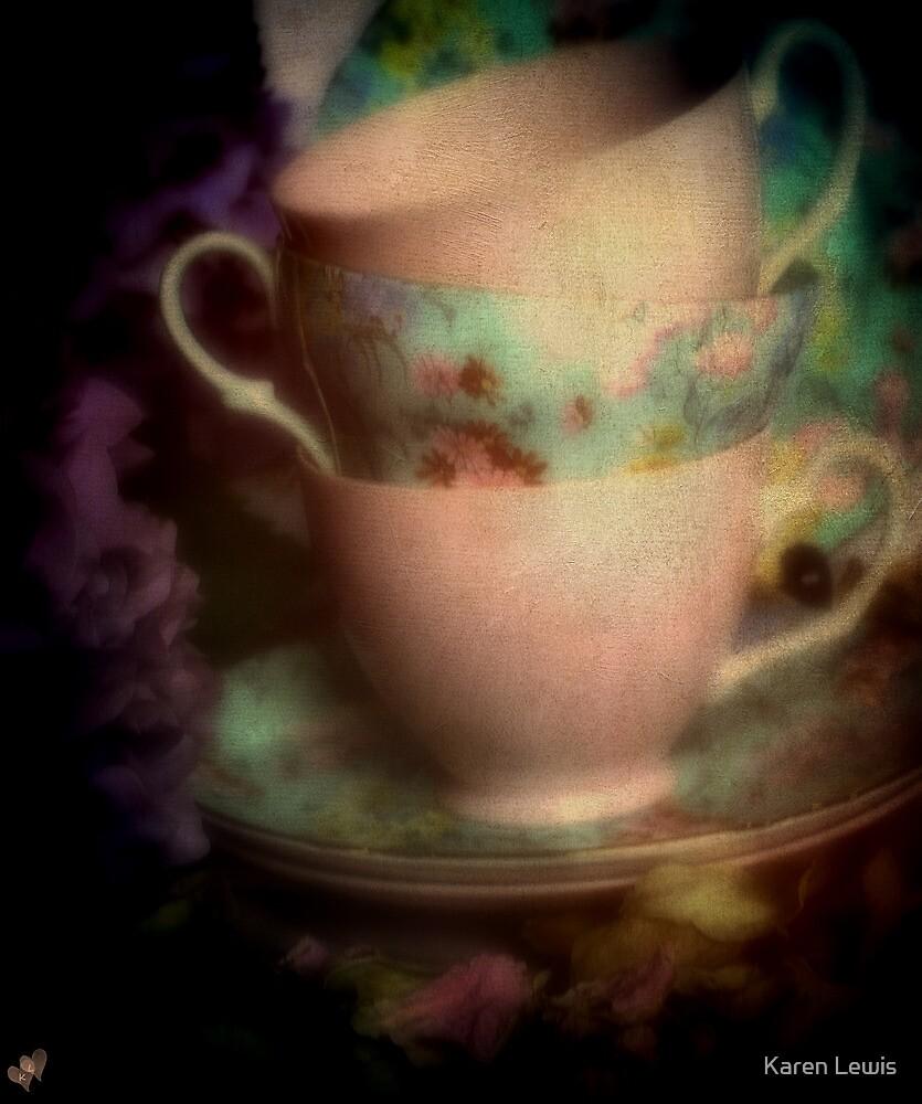 Tea Cups by Karen Lewis