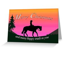 Cowboy at sunset Greeting Card