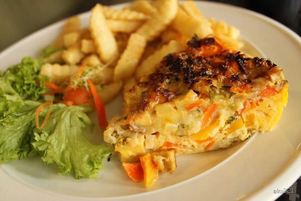 Quiche and Chips by elm321