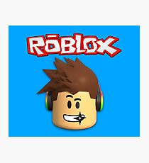 Roblox Character Head Photographic Print