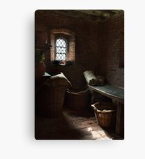 Gainsborough Old Hall-Kitchen room (2) Canvas Print