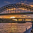 Newcastle Sunset by Trevor Kersley