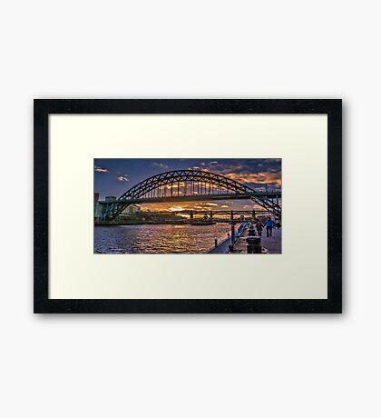 Newcastle Sunset Framed Print