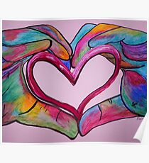 Universal Sign for Love - You Hold my Heart in Your Hand Poster