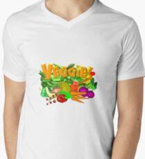 Veggie Salad by Valxart Men's V-Neck T-Shirt