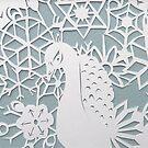 peacock blizzard  by Hannah STICKNEY