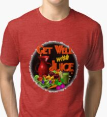 Get well with juice by Valxart Tri-blend T-Shirt