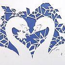 snowflake swans  by Hannah STICKNEY