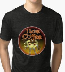 I love Coffee by Valxart Tri-blend T-Shirt