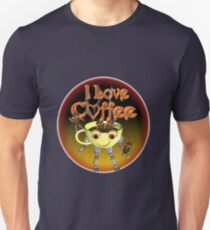 I love Coffee by Valxart Unisex T-Shirt