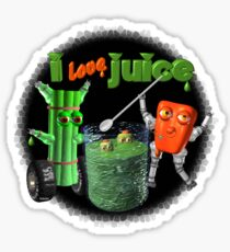 I Love Juice w/ celerybot by Valxart    Sticker