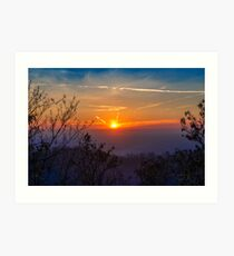 Sunset time over the town Art Print