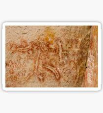 Aboriginal rock art, Carnarvon Gorge, Queensland, Australia Sticker