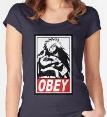 OBEY Madara Uchiha  Women's Fitted Scoop T-Shirt
