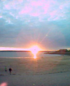sunset beach by nutchip