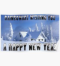 RAINBOWART WISHING YOU A HAPPY NEW YEAR Poster
