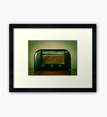 Old Broken Vintage Radio Framed Print