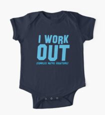 I WORK OUT (complex maths equations) Kids Clothes