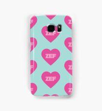 Zef Pattern Pink & Blue Samsung Galaxy Case/Skin