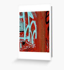 Red Vix Cover Greeting Card