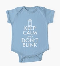 Keep Calm and Don't Blink One Piece - Short Sleeve