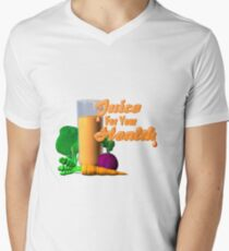Juice for your health by Valxart  Men's V-Neck T-Shirt