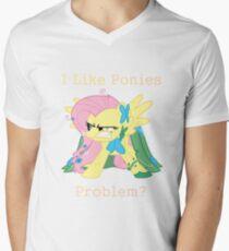 Fluttershy Problem Men's V-Neck T-Shirt