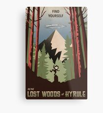 Find Yourself In the Lost Woods Metal Print