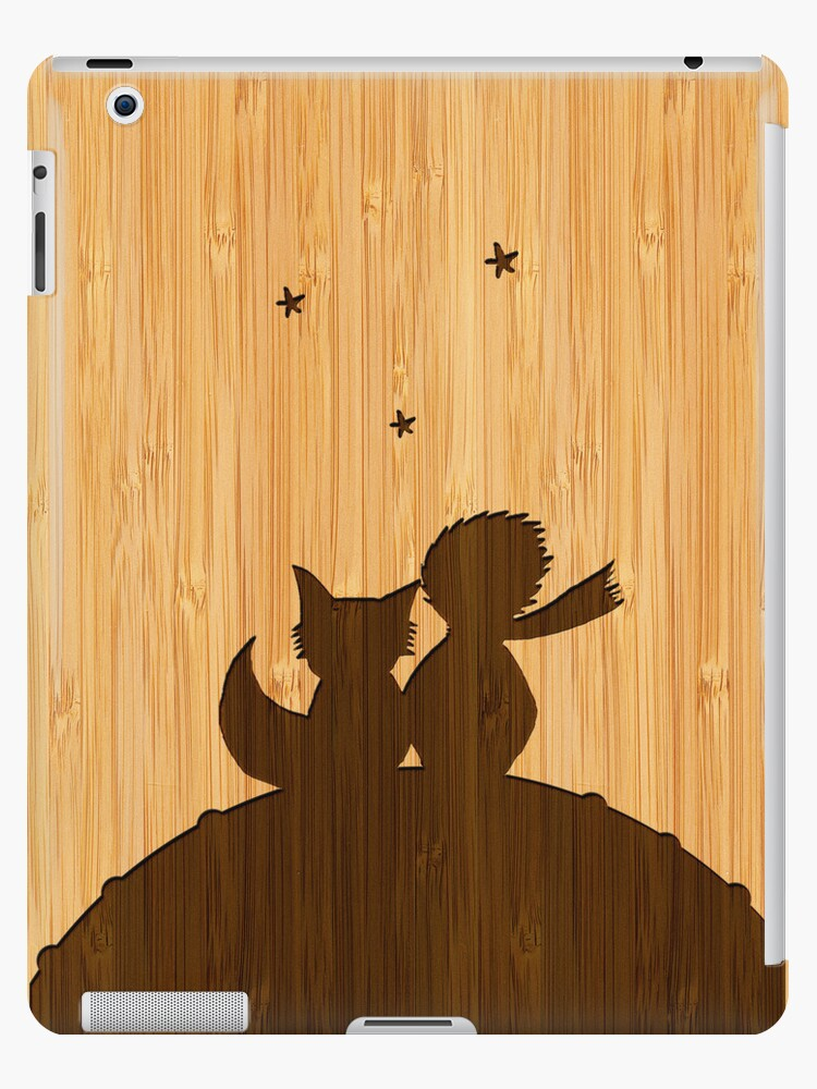 Bamboo Look & Engraved Little Prince with Fox by scottorz