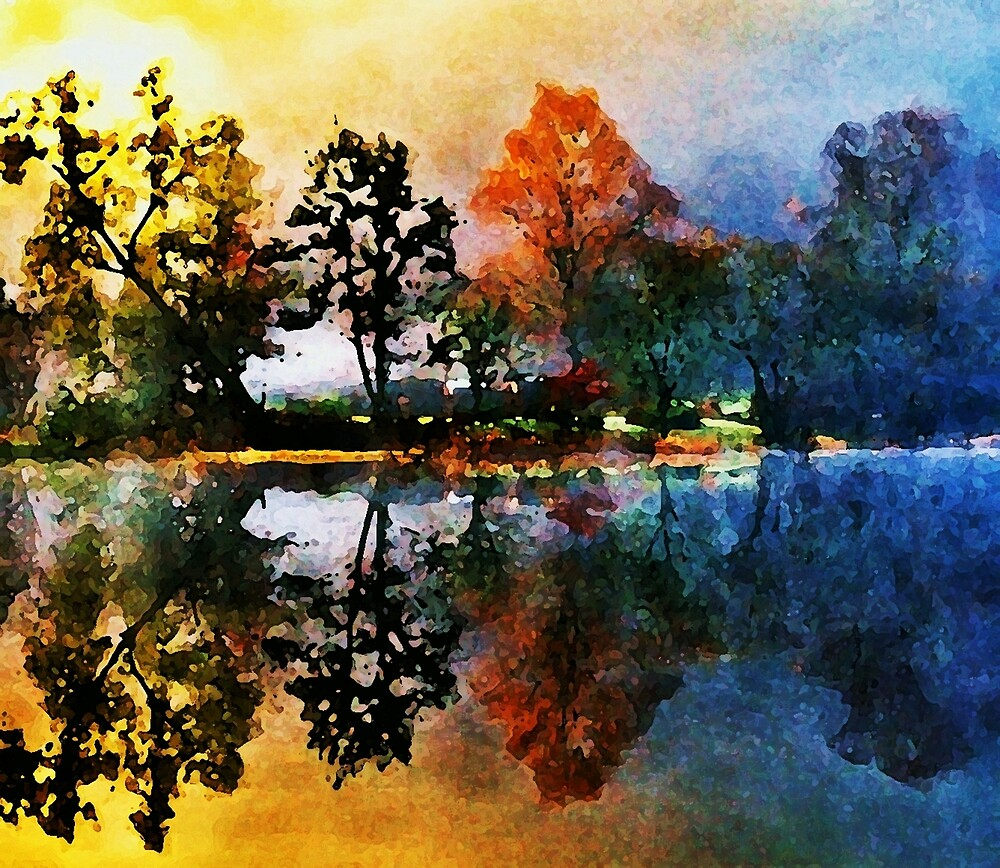 Reflections At Tallman Pond by Rick Wollschleger