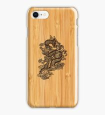 Bamboo Look & Engraved Chinese Dragon iPhone Case/Skin