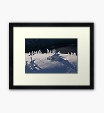 Soft and Cold Framed Print