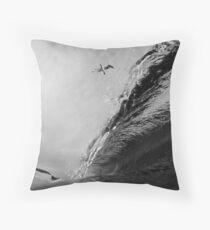 High Flying Barrel Throw Pillow