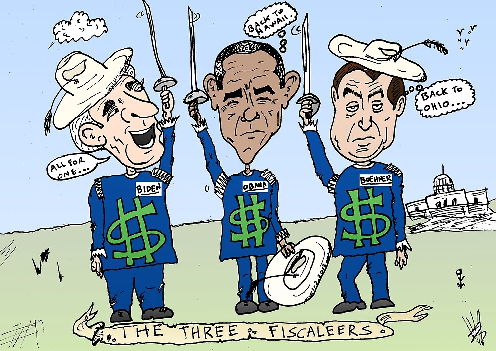 American politicians as the Three fiscaleers cartoon by Binary-Options