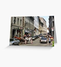 Old Montreal Traffic Jam Greeting Card