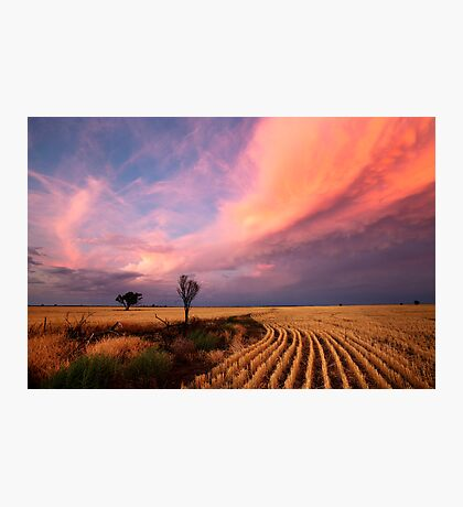 After the Harvest and Storm has gone Photographic Print
