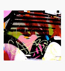 Graffiti heart - Graffiti - Street Art Photographic Print