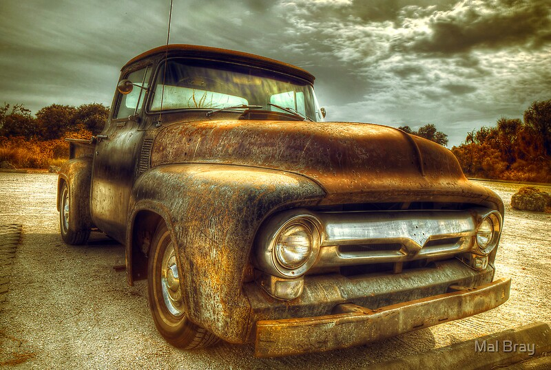 """Vintage Ford Pickup Truck"" Photographic Prints by Mal ..."